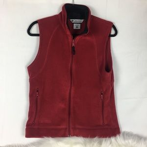 Jackets & Blazers - Colombia Womens Red Vest Size M